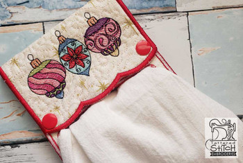 """Ornaments Towel Topper - Fits a 5x7 & 6x10""""  Hoop - Machine Embroidery Designs"""