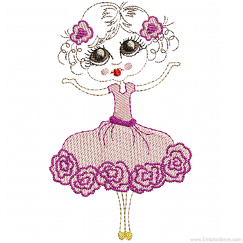 Super Sweet Ballerina - Embroidery Designs