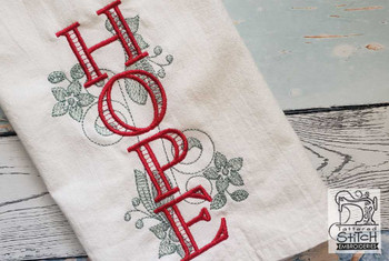 """Hope with Mistletoe - Fits a 5x7""""  Hoop - Machine Embroidery Designs"""