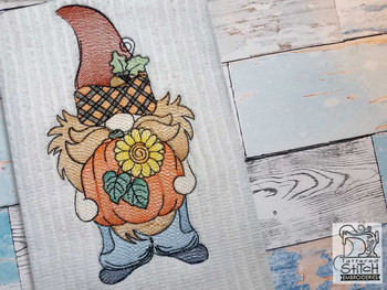 "Acorn Gnome- Fits a  4x4"", 5x7"" &  8x8"" Hoop - Machine Embroidery Designs"