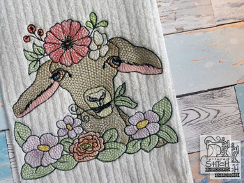 "Goat - Fits a  4x4"", 5x7"" &  6x10"" Hoop - Machine Embroidery Designs"