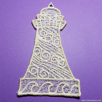 Lighthouse Free Standing Lace - Embroidery Designs