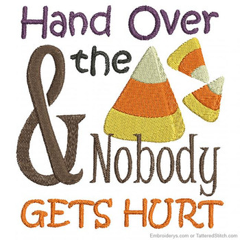 Hand Over The Candy Corns - Embroidery Designs