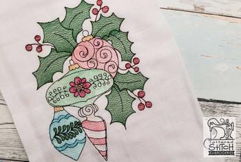 "Ornament Trio -Fits a  4x4"", 5x7""&  8x8"" Hoop - Machine Embroidery Designs"