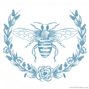 Queen Bee Is A Buzzin - Embroidery Designs