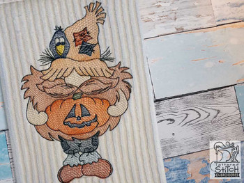"Scarecrow Gnome - Fits a  4x4"", 5x7"" &  8x8"" Hoop - Machine Embroidery Designs"