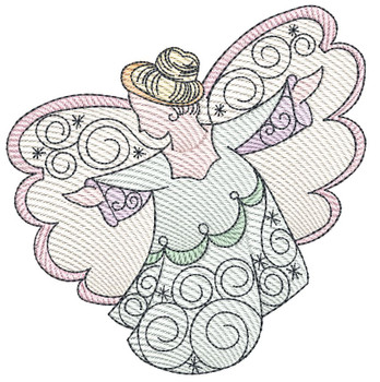 """Angel - Fits a  4x4"""", 5x7"""" & 8x8"""" Hoop - Machine Embroidery Designs"""