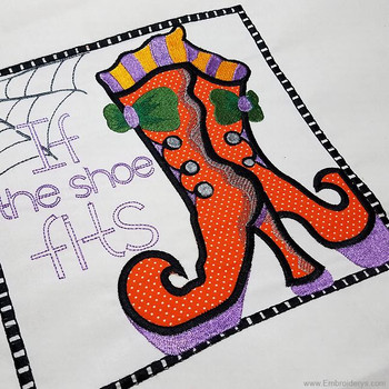 Witches Boot Applique - Embroidery Designs