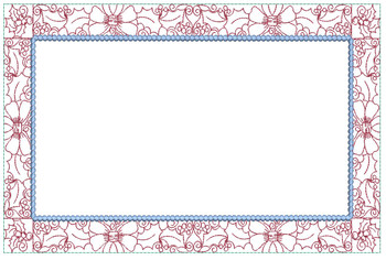 """Holly Border Rectangle Quilt Block - Fits a  6x10"""", 8x12"""", 8x14""""  Hoop - Machine Embroidery Designs"""