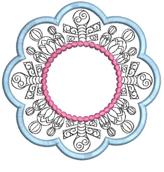 """Blank Snowflake Coaster - Fits a   4x4"""", 5x7"""" and 6x6"""" Hoop - Machine Embroidery Designs"""