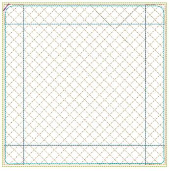 "Blank Pot Holder- Fits an 8x8"" Hoop - Machine Embroidery Designs"