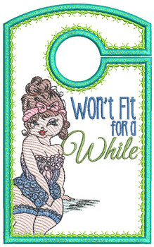 """Won't Fit for a While - Closet Organizer - Fits a 5x7""""Hoop - Machine Embroidery Designs"""