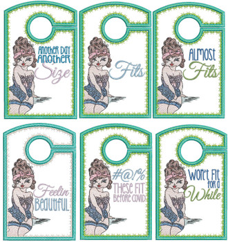 "Sassy Girl Phrases - Closet Organizer - Fits a 5x7""Hoop - Machine Embroidery Designs"