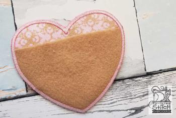 "Prayer Pocket Heart - Fits a  5x7""  Hoop - Machine Embroidery Designs"
