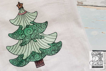 """Christmas Tree - Fits a  4x4"""", 5x7"""" & 8x8"""" Hoop - Machine Embroidery Designs"""