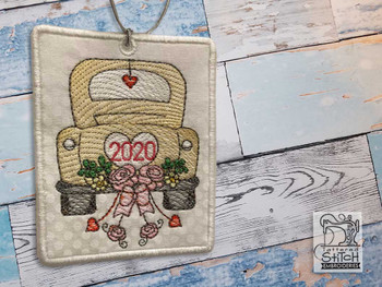 """Hitched Ornament - Fits a 4x4"""" Hoop - Machine Embroidery Designs"""
