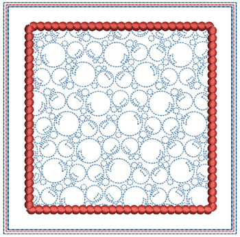 "Bubbles Background Coaster - Fits a 5x7"" Hoop - Machine Embroidery Designs"