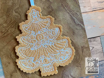 """Tree Ornament - Fits a   4x4"""" Hoop - Machine Embroidery Designs"""