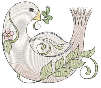 "Peace Dove 2 - Fits a  4x4"", 5x7"" &  8x8"" Hoop - Machine Embroidery Designs"