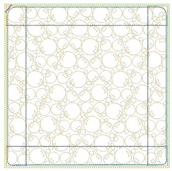 """Bubbles Background Pot Holder- Fits a 6x6"""" & 8x8"""" Hoop - Machine Embroidery Designs"""