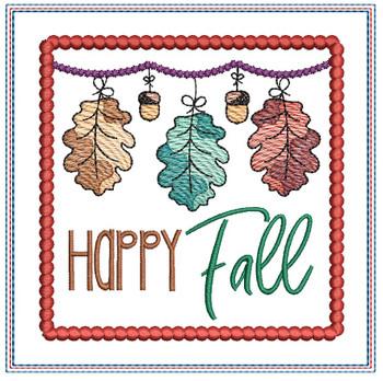 "Oak Leaf Fall Coaster - Fits a 5x7"" Hoop - Machine Embroidery Designs"