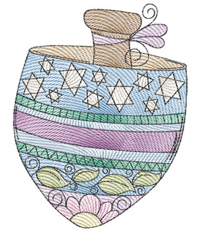 "Dreidel - Fits a  4x4"", 5x7"" &  8x8"" Hoop - Machine Embroidery Designs"