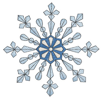 "Snowflake - Fits a  4x4"", 5x7"" &  8x8"" Hoop - Machine Embroidery Designs"