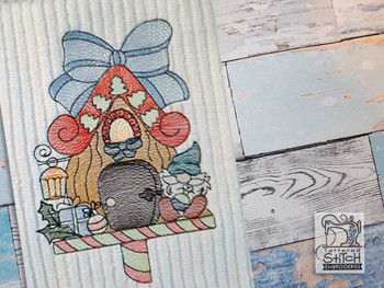 """Holiday Gnome Home - Fits a  4x4"""", 5x7"""" &  6x10"""" Hoop - Machine Embroidery Designs"""