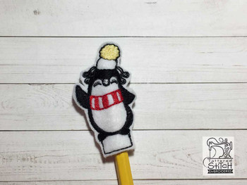"Penguin Finger Puppet - Fits a  4x4""  Hoop - Machine Embroidery Designs"