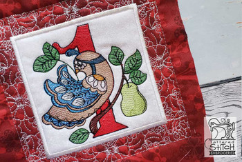 "12 Days of Christmas QB 1 - Fits a  5x5"", 6x6"", 7x7"", 8x8"" & 10x10""  Hoop - Machine Embroidery Designs"