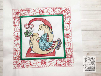 "12 Days of Christmas QB 2 - Fits a  5x5"", 6x6"", 7x7"", 8x8"" & 10x10""  Hoop - Machine Embroidery Designs"