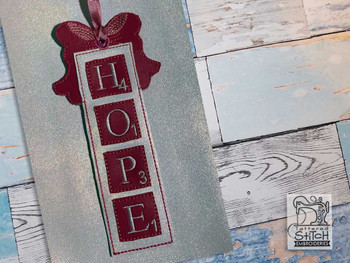 "Hope Scrabble Ornament - Fits a 5x7"" Hoop - Machine Embroidery Designs"