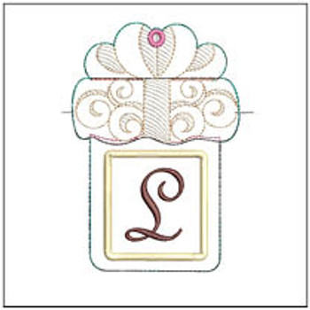 "Present Gift Card Holder ABCs - L - Fits a   5x7"" Hoop - Machine Embroidery Designs"