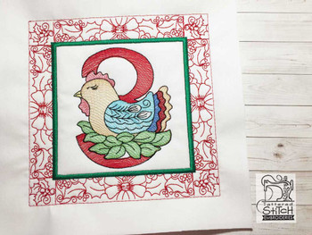 "12 Days of Christmas QB 3 - Fits a  5x5"", 6x6"", 7x7"", 8x8"" & 10x10""  Hoop - Machine Embroidery Designs"