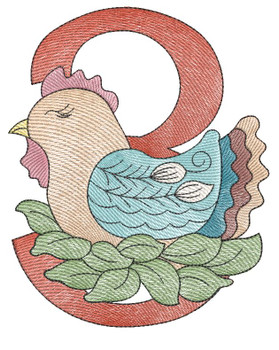 "12 Days of Christmas 3 (No Quilt Block Background) - Fits a  4x4"", 5x7"" & 8x8"" Hoop - Machine Embroidery Designs"