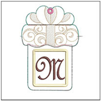 "Present Gift Card Holder ABCs - M - Fits a   5x7"" Hoop - Machine Embroidery Designs"