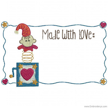 Jack In The Box Quilt Label - Embroidery Designs