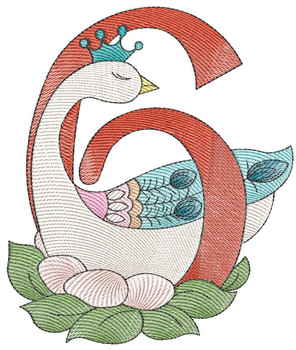 "12 Days of Christmas 6 (No Quilt Block Background) - Fits a  4x4"", 5x7"" & 8x8"" Hoop - Machine Embroidery Designs"