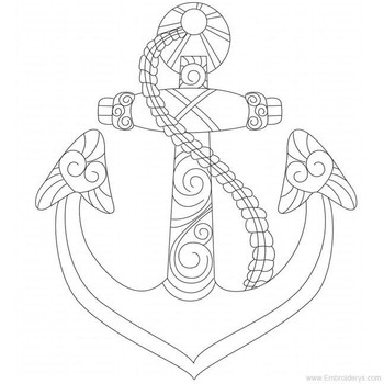 Anchor - Free Standing Lace - Embroidery Designs