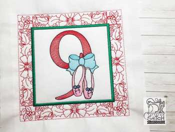 "12 Days of Christmas QB - 9 - Fits a  5x5"", 6x6"", 7x7"", 8x8"" & 10x10""  Hoop - Machine Embroidery Designs"