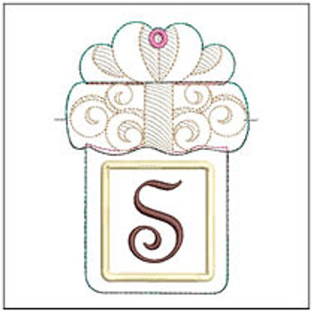 "Present Gift Card Holder ABCs - S - Fits a 5x7"" Hoop - Machine Embroidery Designs"