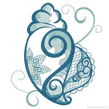 Conch Shell - Machine Embroideries Design