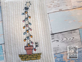 "Festivus Pole - Fits a 4x4"", 5x7"" & 6x10"" Hoop - Machine Embroidery Designs"
