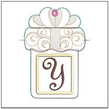 "Gift Card Holder ABCs - Y - Fits a 5x7"" Hoop - Machine Embroidery Designs"