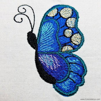 Elegant Flying Butterfly - Embroidery Designs