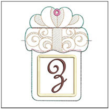 "Gift Card Holder ABCs - Z - Fits a 5x7"" Hoop - Machine Embroidery Designs"