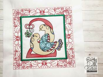 "12 Days of Christmas QB - Bundle - Fits a  5x5"", 6x6"", 7x7"", 8x8"" & 10x10""  Hoop - Machine Embroidery Designs"