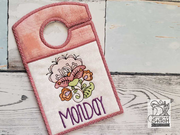"Jacobean Monday - Closet Organizer - Fits a 5x7""Hoop - Machine Embroidery Designs"