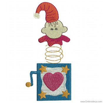 Jack In The Box Surprise - Embroidery Designs