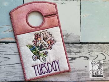 "Jacobean Tuesday - Closet Organizer - Fits a 5x7""Hoop - Machine Embroidery Designs"